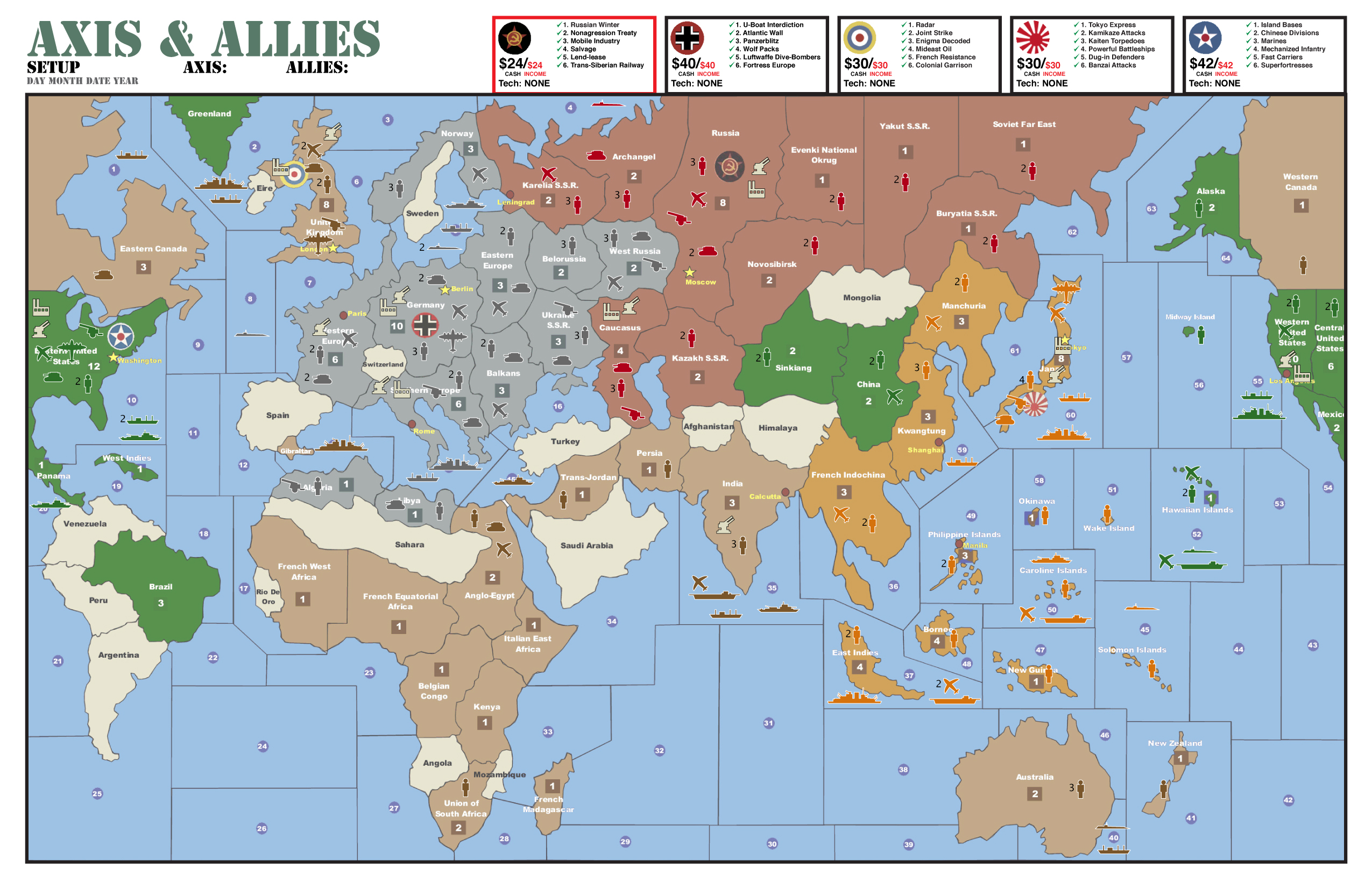 Axis And Allies 1942 Second Edition Setup axis and allies .org forums ...